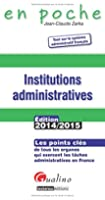 Institutions administratives 2014-2015