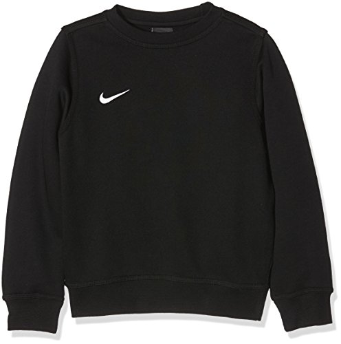 Nike Team Club Crew - Maglione girocollo a maniche lunghe, da ragazzo, Multicolore (Black/Football White), M