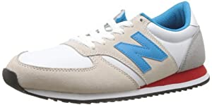 New Balance U420 D 14E, Baskets mode mixte adulte - Blanc (White/Blue (110)), 42 EU (8.5 US)