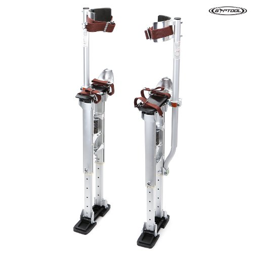 "GypTool Adjustable Height Professional Drywall Taping, Finishing, & Painting Stilts: 18"" - 30"""