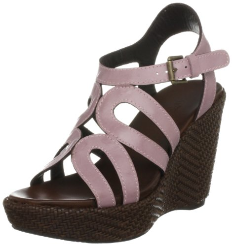 Audley Women's Colette Brown/Pink Wedges Heels Cork 15619 9 UK