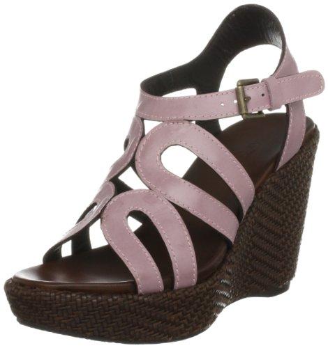 Audley Women's Colette Brown/Pink Wedges Heels Cork 15619 9 UK