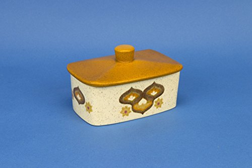 Yellow Charming Abstract Butter DISH Palissy Modernist Cheese Ceramic Vintage English 1970s LS (Plum Butter Dish compare prices)