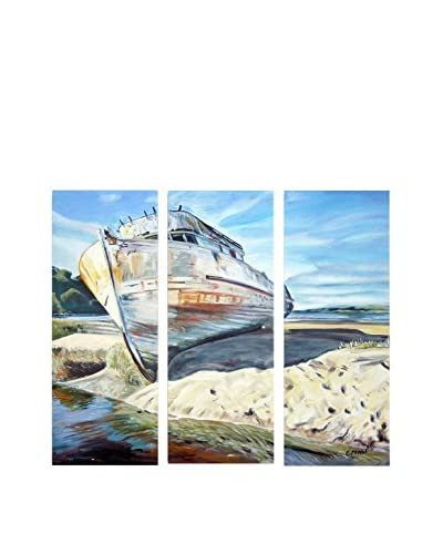 "Colleen Proppe ""Inverness Boat"" 3-Panel Art Set"