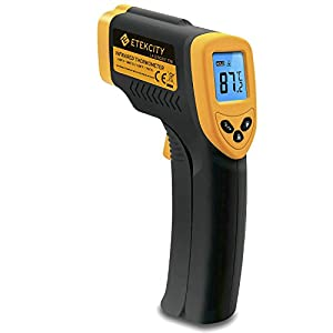 Etekcity Lasergrip 774 Non-contact Digital Laser Infrared Thermometer, Yellow and Black Etekcity