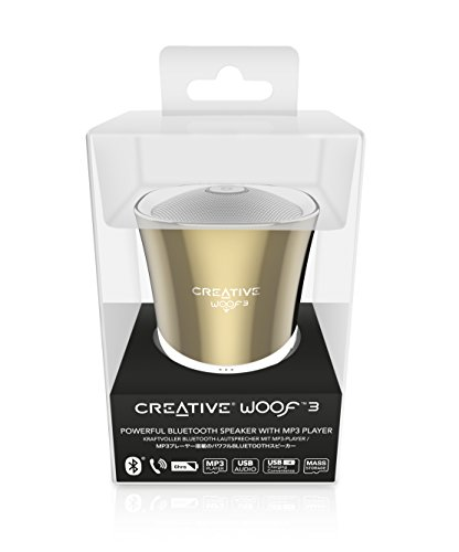 Creative Woof 3 Bluetooth MP3/FLAC Speaker (Autumn Gold)