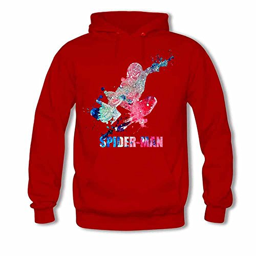 Womens Hoodies Watercolor Spiderman Art Sweatshirts XXL