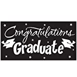Congratulations Graduate Black Graduation Giant Banner