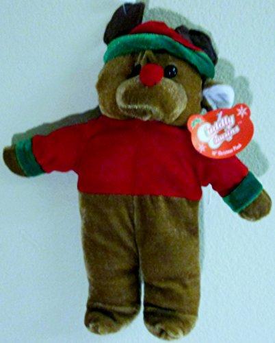 "Cuddly Cousins Plush Christmas Bear 10"" Tall"