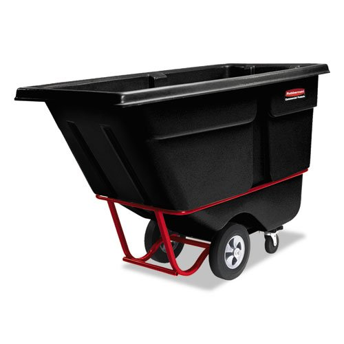 Rubbermaid Commercial - Rotomolded Tilt Truck, Rectangular, Plastic, 1/2 Cu Yd., 850-Lb Cap., Black 1305Bla (Dmi Ea