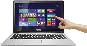 """Asus S550CA-CJ035H Vivobook Ordinateur portable tactile 15,6"""" (39,62 cm) Intel Core i3 3217U 1,8 GHz 500 Go 4096 Mo Intel HD graphics Windows 8 Noir/Argent"""