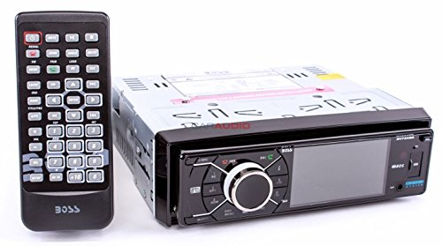 BOSS AUDIO BV7348B Single-DIN 3.2 inch Screen DVD Player Receiver, Bluetooth, Detachable Front Panel, Wireless Remote (Chevy Camaro Bluetooth compare prices)