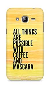 AMEZ all things are possible with coffee and mascara Back Cover For Samsung Galaxy J3 (2016 EDITION)