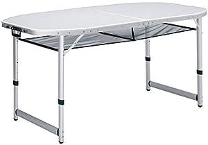 XXL Alu Campingtisch 150x80cm, extra großer stabiler Koffertisch, wetterbeständig, große Netzablage  BaumarktKundenbewertung und weitere Informationen