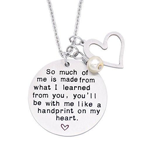 O.RIYA Graduation Gift, Teacher Necklace,Gift for Teacher, Gift from Student, Teacher Gift, Personalized Teacher Jewelry