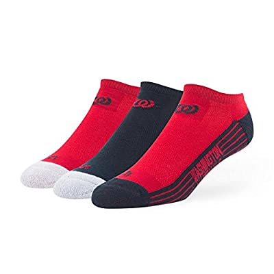 Washington Nationals No Show Socks 3 Pack