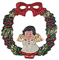 Angel Wreath German Pewter Christmas Ornament from Kuehn