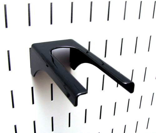 Wall Control Pegboard 1-1/4In Handle Pegboard Bracket Slotted Metal Pegboard Hook For Wall Control Pegboard And Slotted Tool Board - Black