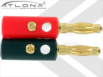 Atlona 4Mm Gold Speaker Wire Cable Banana Plugs Connectors 4 Qty-2 Pairs