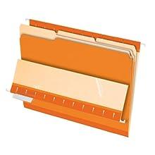 Pendaflex Legal Size Interior File Folders, 100 per Box (PFX4350 1/3 ORA)