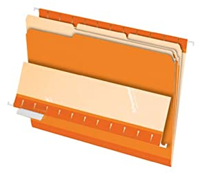 Pendaflex Legal Size Interior File Folders, 100 per Box (PFX4350 1/3 ORA)