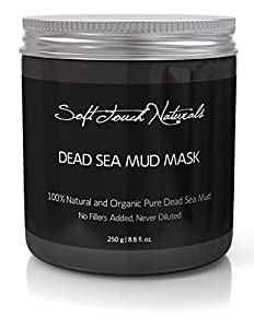 Soft Touch Naturals BEST Dead Sea Mud Mask NO FILLERS, 8.8 fl. oz. of 100% Natural and Organic Pure Dead Sea Mud Mask with Essential Oils, Vitamins, and Minerals