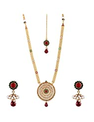 Bhagwathi Antique Long Necklace Set (BGPS004) - B00V3E9ETU