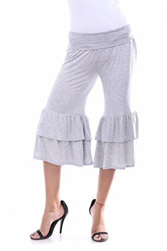 GOEWA -  Pantaloni  - Uomo Grey Large