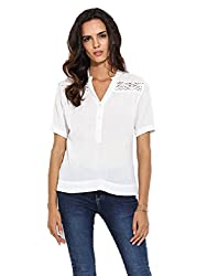 Hope and Luck Women's Straight Shirt(W-GC-B-104_White_Large)