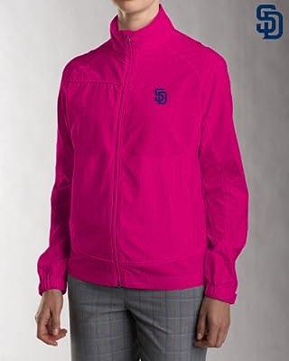 San Diego Padres Ladies Women's WeatherTec Camano Full Zip Jacket Ribbon Pink
