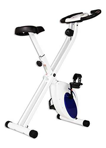 Body Rider Deluxe Folding Bike, Blue/White
