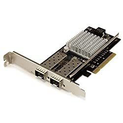 StarTech.com 10G Network Card – MM/SM – 1x Single 10G SPF+ slot – Intel 82599 Chip – Gigabit Ethernet Card – Intel NIC Card