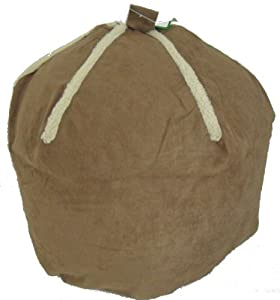 Faux Suede Fur Sheepskin Brown Bean Bag LARGER SIZE