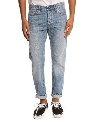CARHARTT - Jeans Slim - Homme - Jean bleu clair Klondike II - 31|32