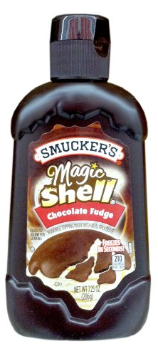 Smucker's Magic Shell CHOCOLATE FUDGE Flavored Topping 7.25oz (2 Pack) (Smuckers Ice Cream Topping compare prices)