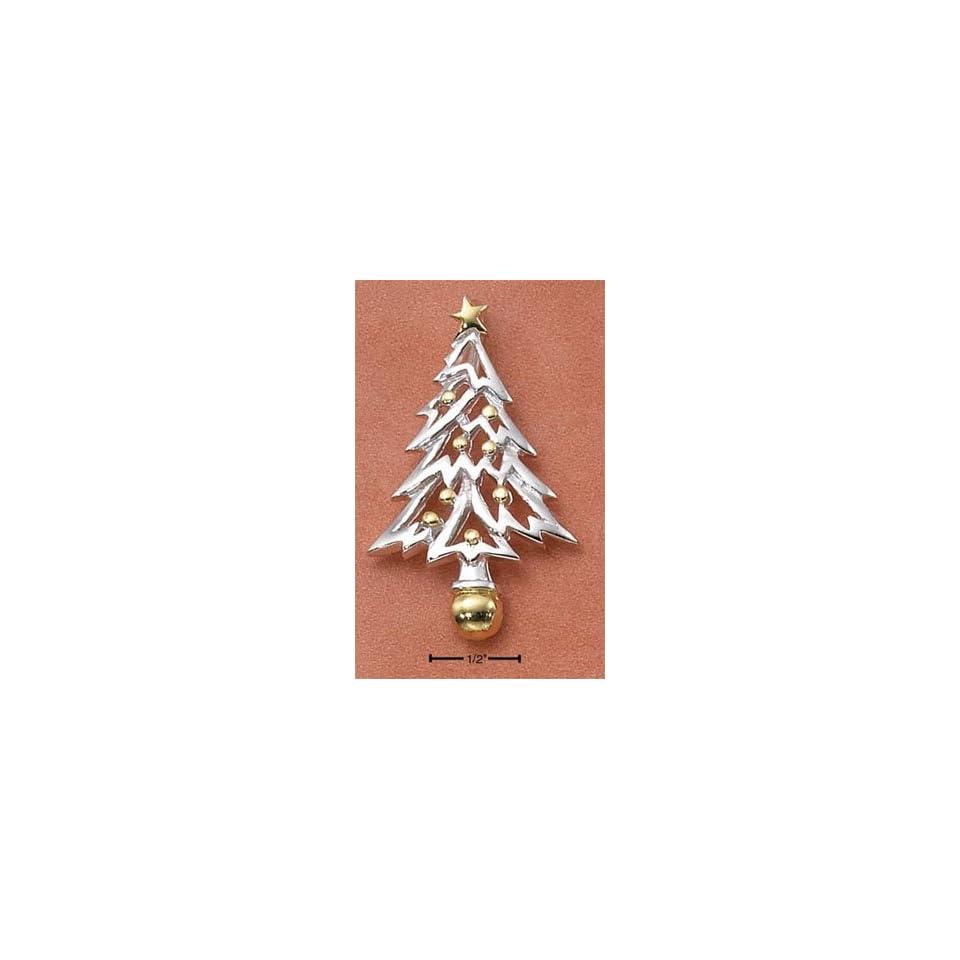 Sterling Silver Two tone Christmas Tree Charm