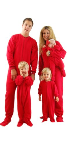 243a7d38c1 Red Footed Family Matching Fleece Pajamas by SleeptimePjs (12-18M)