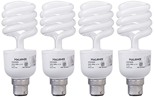 Halonix 20 W Tiwster CFL Bulb (Pack of 4) Image
