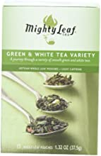 Mighty Leaf Tea Green amp White Variety 15-Count Whole Leaf Pouches Pack of 3