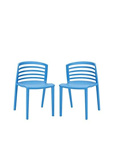 Modway Set of 2 Curvy Dining Chairs