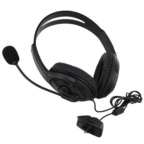 Skque Headset Handphone Earphone With Microphone For Xbox 360, Black