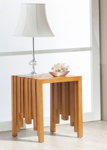 Image of Contemporary End Table in Warm Honey (CODE-ET)