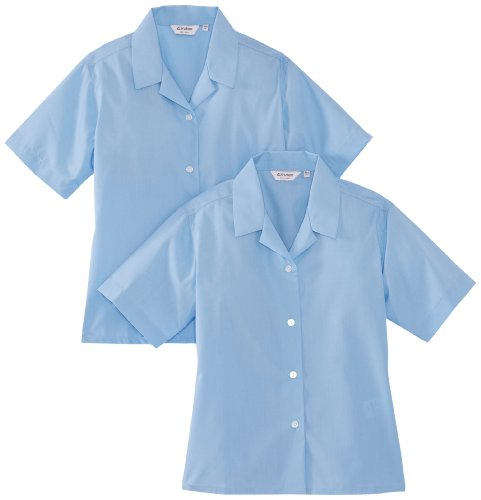 Trutex Limited Girl's Short Sleeve Non-Iron Plain Blouse, Blue, 13 Years (Manufacturer Size: 34