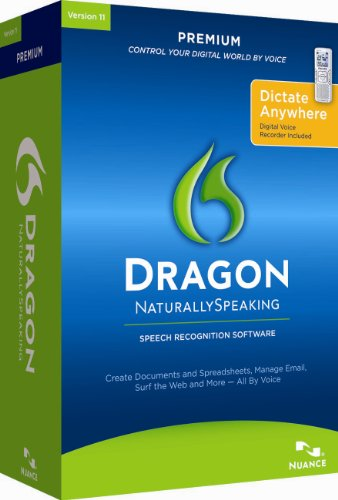 Dragon Naturally Speaking Premium 11, English, with Recorder