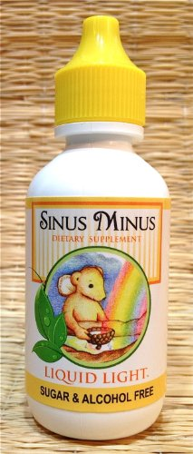 Sinus Minus 2 Oz Bottle - Dry up Sinuses, Sinusitis, Nasal Inflamation Clearing, Allergy, Cold, Flu Support.