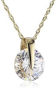 Fascination by Ellen K. - 500340539-42 - Collier avec Pendentif Femme - Or jaune 333/1000 (8 carats) 1.13 gr - Oxyde de Zirconium - 42 cm
