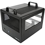 CaseLabs Bullet BH4 MATX Case With Handles And Dual Windows, Black