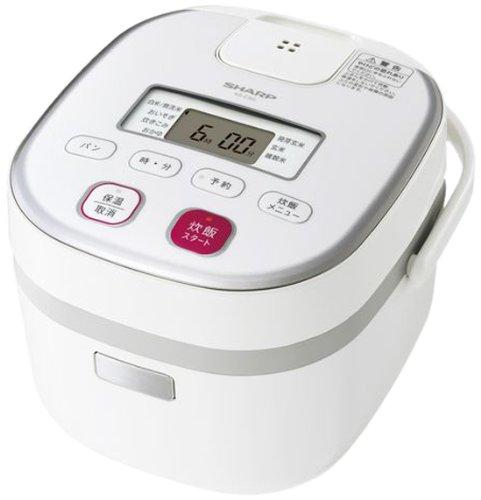 SHARP 電子ジャー炊飯器0.54Lタイプ ホワイト系 KS-C5G-W -