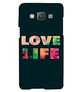 PrintVisa Life Quotes Design 3D Hard Polycarbonate Designer Back Case Cover for Samsung Galaxy E5