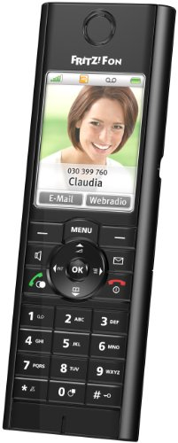 AVM FRITZ!Fon MT-F - Cordless extension handset w/ call waiting caller ID  &  internet radio - DECT\GAP - SIP